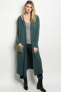 S23-7-6-C21791 GREEN GOLD WITH SEQUINS CARDIGAN 2-2-2