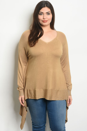 S21-11-4-T8911X CAMEL PLUS SIZE TOP 3-3