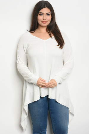 S21-11-4-T8911X IVORY PLUS SIZE TOP 3-3