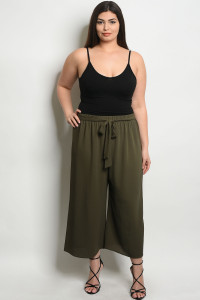 C53-A-5-P9574X OLIVE PLUS SIZE PANTS 2-2-2