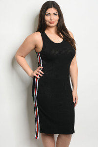 C45-A-1-D0288X BLACK PLUS SIZE DRESS 2-2-2
