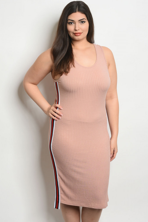 C43-A-4-D0288X BLUSH PLUS SIZE DRESS 2-2-2
