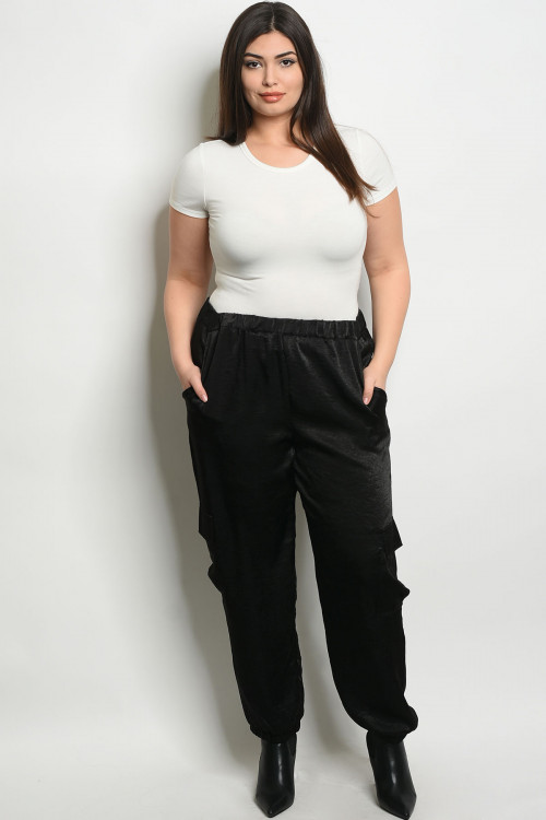 SA3-0-3-P9166X BLACK PLUS SIZE PANTS 2-2-2