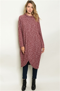 S17-1-1-S50062 BURGUNDY SWEATER 1-1-1