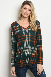 C71-B-2-T10026 GREEN EARTH CHECKERED TOP 2-2-2
