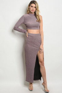 C10-A-1-SET30948 MAUVE TOP & SKIRT SET 2-2-2