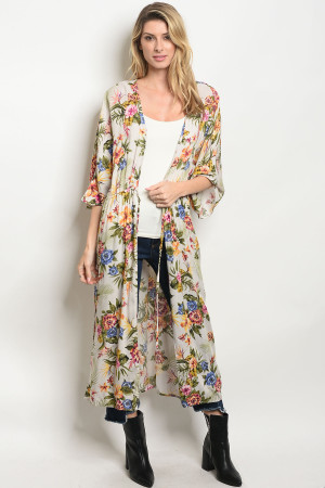 S18-9-4-C12508 OFF WHITE FLORAL CARDIGAN 3-2-1