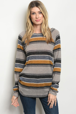S17-8-5-T7991 NAVY MUSTARD SWEATER 2-2-2