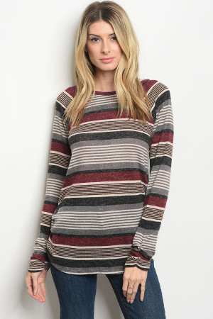 S20-11-3-T7991 WINE BLACK SWEATER 2-2-2