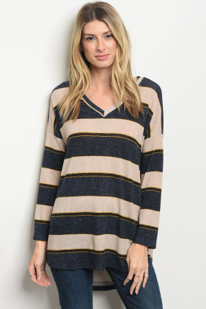 S11-12-1-T8103 NAVY SAND SWEATER 2-2-2