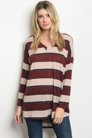 S15-10-3-T8103 WINE TAN SWEATER 2-1-2