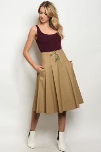 S23-12-2-S30454 TAUPE SKIRT 3-2-1
