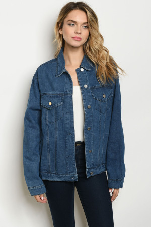 S23-11-4-J13186 DENIM BLUE JACKET 3-2-1