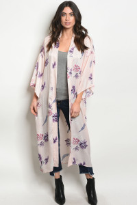 C97-A-7-K50077 PINK WITH FLOWER KIMONO 2-2-2