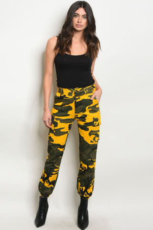 S15-10-4-P8545 YELLOW CAMOUFLAGE PANTS 2-2-2