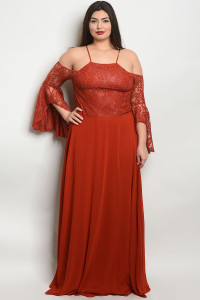 S19-12-2-D25858X EARTH PLUS SIZE DRESS 3-2-1