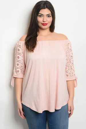 S11-17-2-T346X BLUSH PLUS SIZE TOP 2-2-2