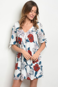 C81-A-1-D8329 OFF WHITE FLORAL DRESS 3-2-2