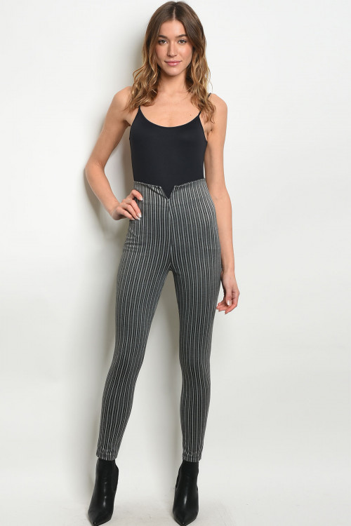 C63-A-3-P0027 CHARCOAL STRIPES PANTS 2-2-2