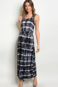 C83-A-3-D7215 BLACK TIE DYE DRESS 2-2-2