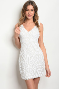 S10-3-4-D09635 OFF WHITE WITH SEQUINS DRESS 2-2-2