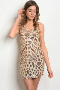 S10-3-4-D09635 NUDE ROSE GOLD WITH SEQUINS DRESS 2-2-2