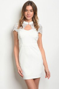 S20-9-1-D09373 OFF WHITE SILVER WITH SEQUINS DRESS 3-1