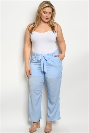 S10-2-1-P51459X BLUE PLUS SIZE PANTS 2-2-2