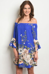 C70-A-4-D9416 ROYAL FLORAL DRESS 2-2-2