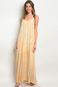 S10-12-2-D11453 YELLOW OFF WHITE DRESS 2-2-2