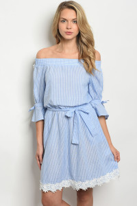 S22-13-5-D25404 BLUE STRIPES DRESS 2-2-2