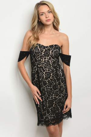 S10-3-5-D7015 BLACK NUDE DRESS 2-2-2