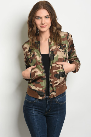 S11-8-1-J8947 GREEN CAMOUFLAGE JACKET 2-2-2