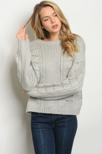 S11-9-4-S0103 GRAY SWEATER 3-2-1
