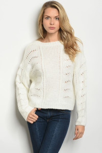 S11-9-4-S0103 IVORY SWEATER 3-2-1