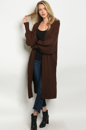 S10-14-4-C1003 BROWN CARDIGAN 3-3