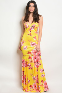 S11-17-3-D103088 YELLOW FLORAL DRESS 2-2-2
