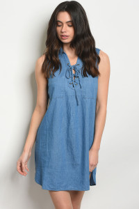 S20-4-NA-D13999 BLUE DENIM DRESS 2-2-2