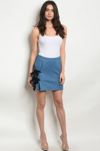 S10-20-4-NA-S80271 BLUE DENIM SKIRT 2-2-2