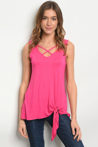 C84-A-2-T2098 FUCHSIA TOP 2-2-2