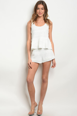 S24-5-4-S74263 WHITE SHORTS 3-2-1  ***TOP NOT INCLUDED***