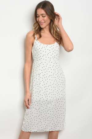 C17-A-1-NA-D70406 OFF WHITE WITH STARS PRINT DRESS 1-2-1