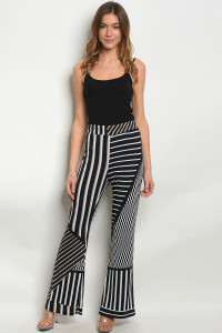 C23-A-3-P1738 BLACK WHITE PANTS 2-2-2