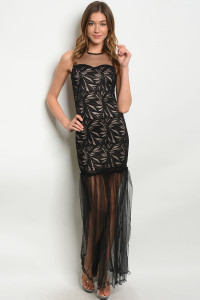 S9-20-3-D3452 BLACK TAN DRESS 2-2-2
