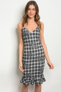 C41-A-1-D23344 BLACK WHITE DRESS 4-2