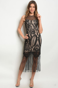 C63-A-3-D23002 BLACK NUDE DRESS 2-2-2