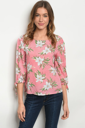 S10-15-1-T15436 RED WHITE TOP 2-2-2