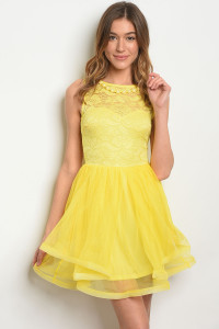 C29-A-1-D2331 YELLOW DRESS 4-1-3