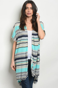 C73-A-3-C3537A BLUE MULTI CARDIGAN 2-2-2