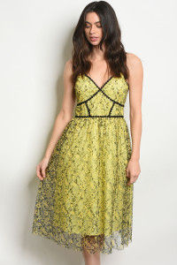 S9-6-3-D72853 YELLOW BLACK DRESS 2-2-2
